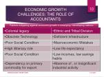 economic growth challenges the role of accountants