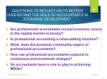 questions to reflect on to better understand the role of accountants in economic development