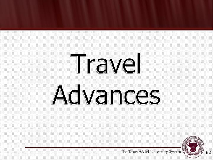 Travel Advances