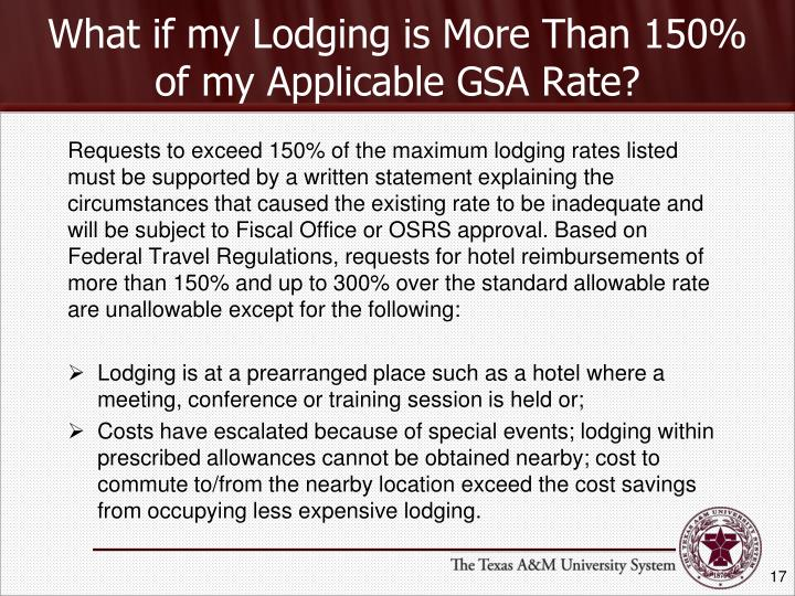 What if my Lodging is More