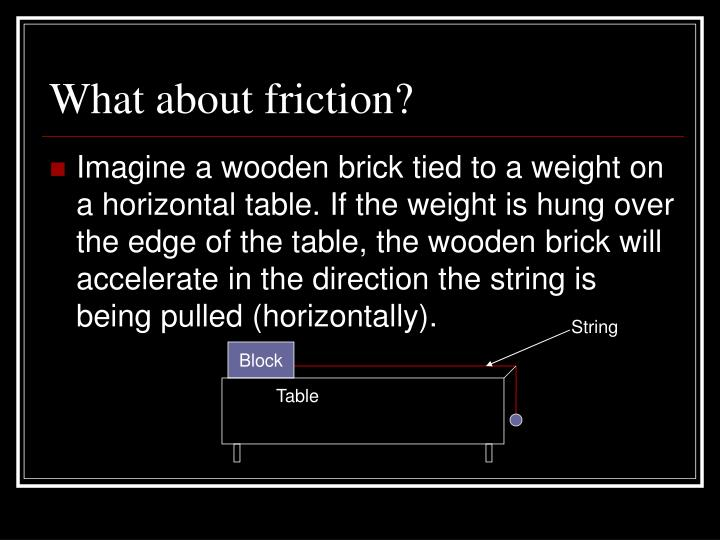 What about friction?