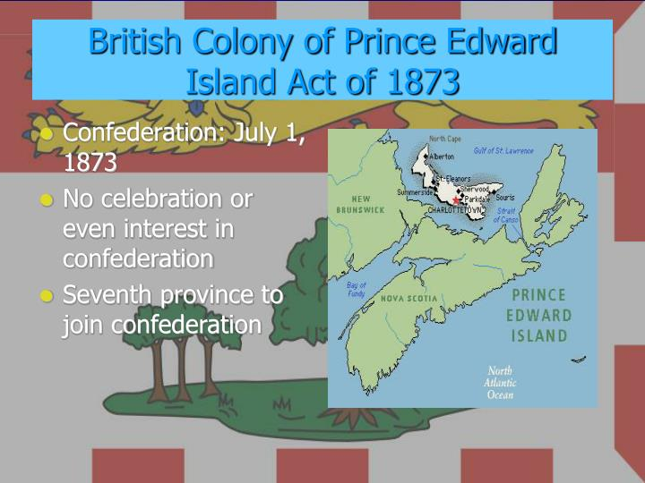 British Colony of Prince Edward Island Act of 1873