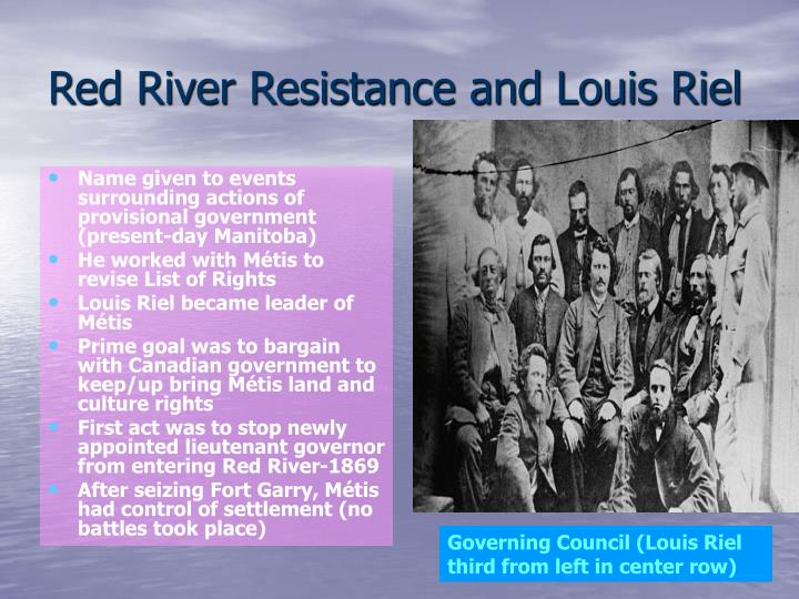 Red River Resistance and Louis Riel