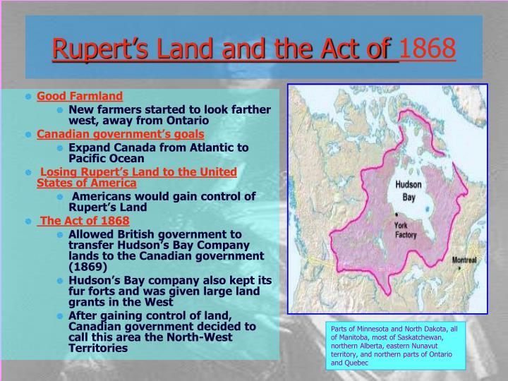 Rupert's Land and the Act of