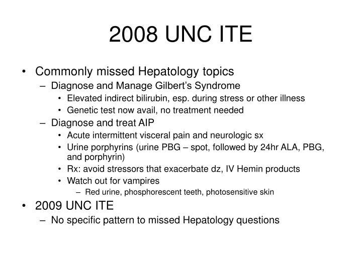 2008 UNC ITE