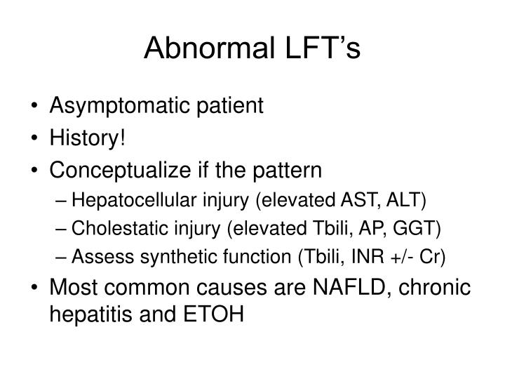 Abnormal LFT's