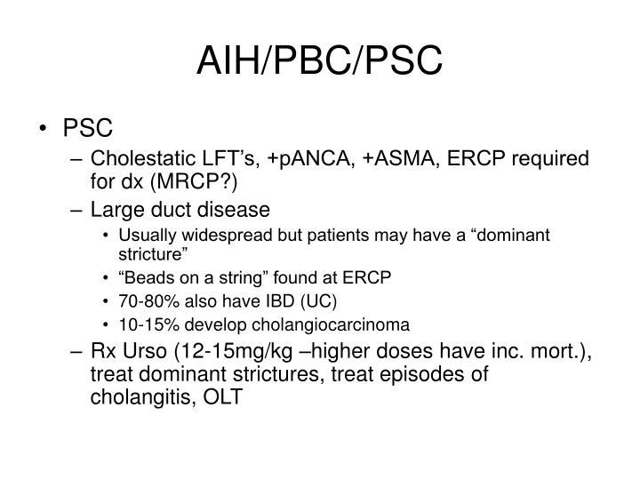 AIH/PBC/PSC