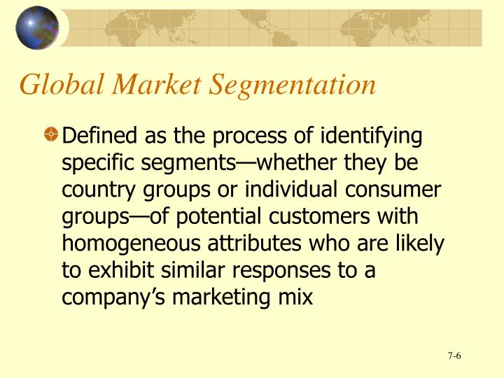Global Market Segmentation