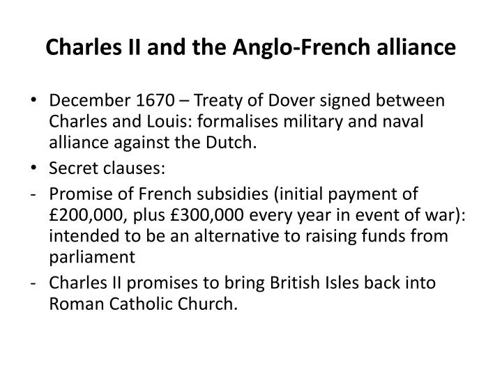 Charles II and the Anglo-French alliance