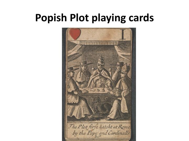 Popish Plot playing cards