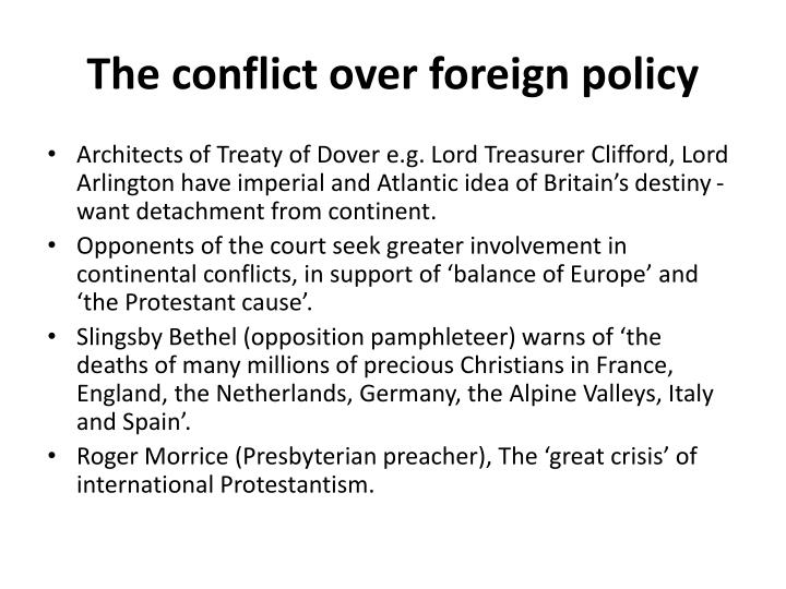 The conflict over foreign policy