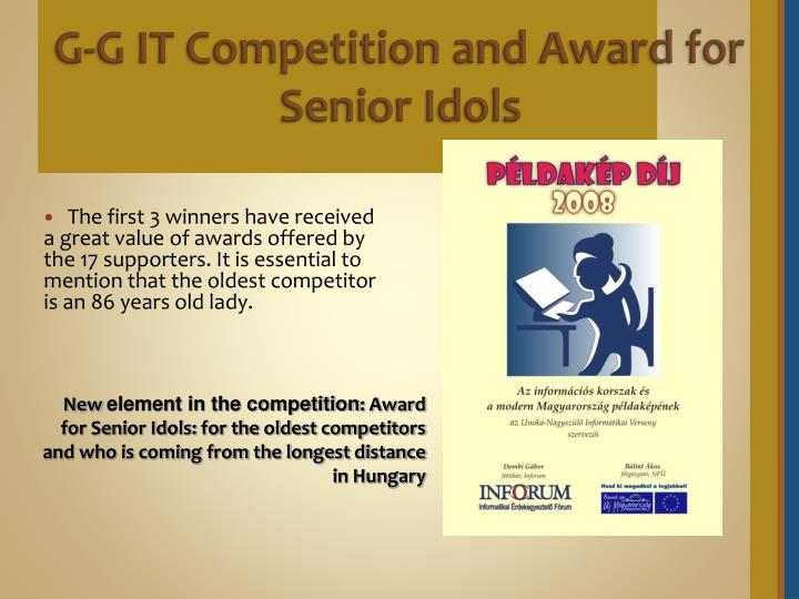G-G IT Competition and Award for Senior Idols