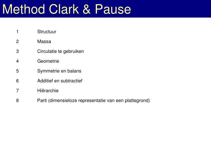 Method Clark & Pause