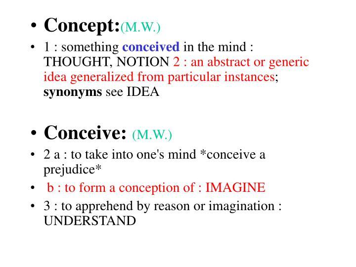 Concept: