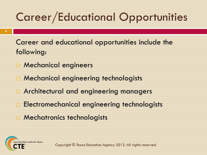 Career/Educational Opportunities