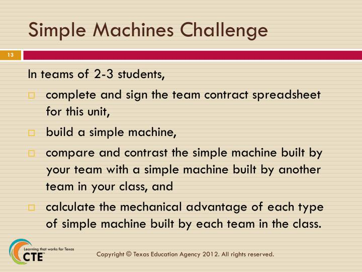 Simple Machines Challenge
