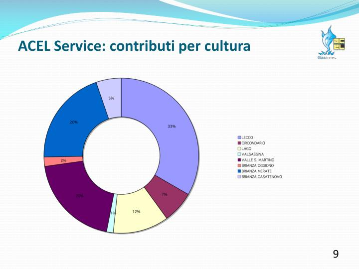 ACEL Service: contributi per cultura