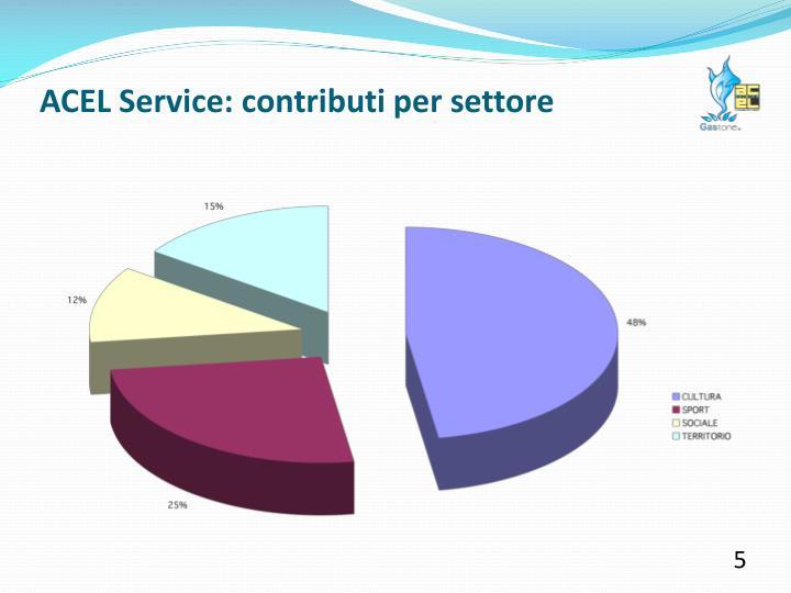 ACEL Service: contributi per settore
