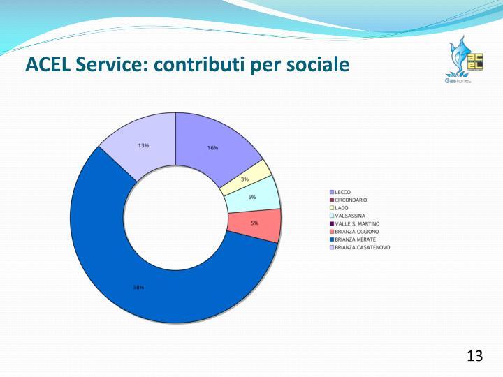ACEL Service: contributi per sociale