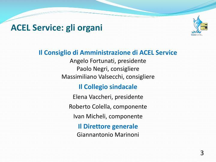 ACEL Service: gli organi