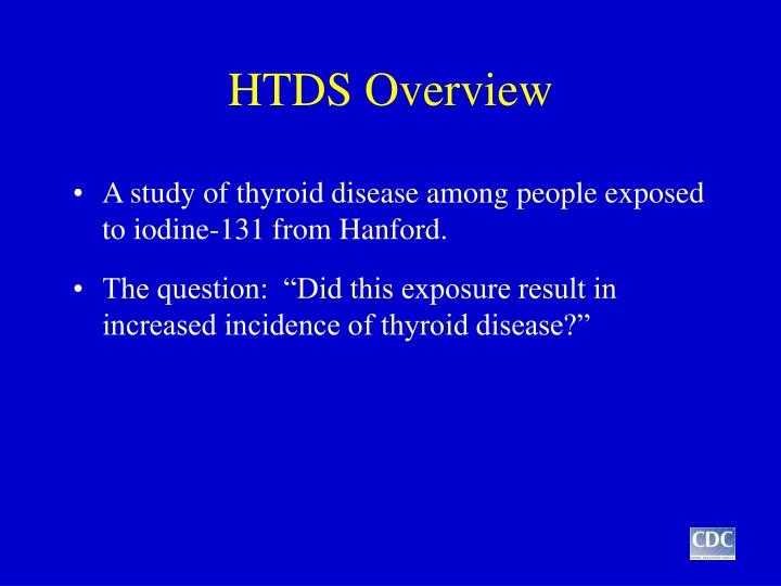 Htds overview
