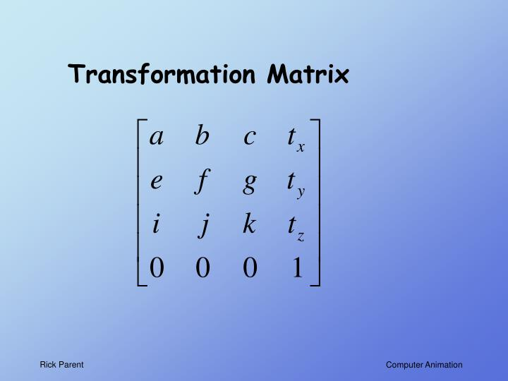 Transformation Matrix
