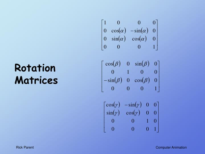 Rotation Matrices