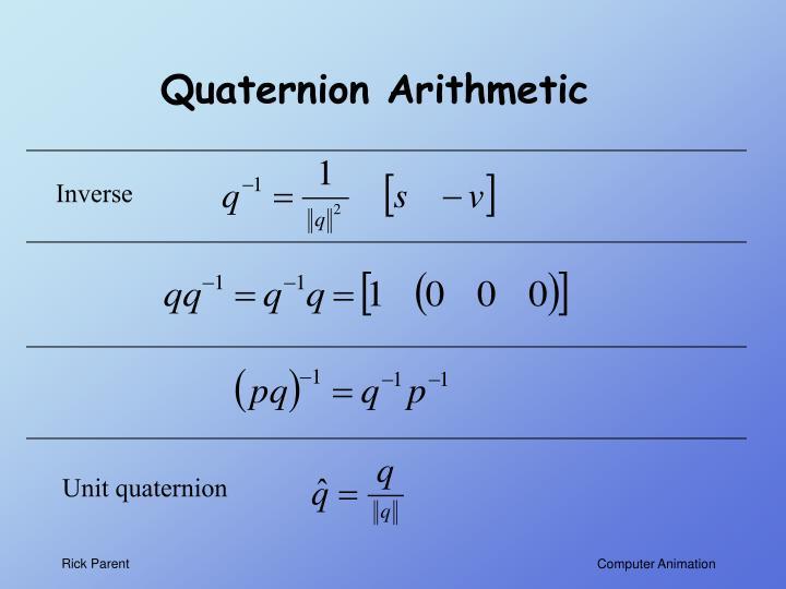 Quaternion Arithmetic