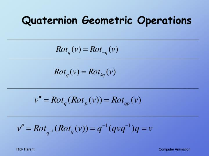 Quaternion Geometric Operations