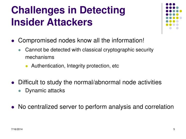 Challenges in Detecting Insider Attackers