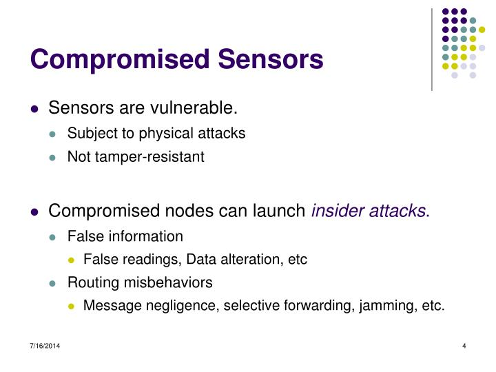 Compromised Sensors