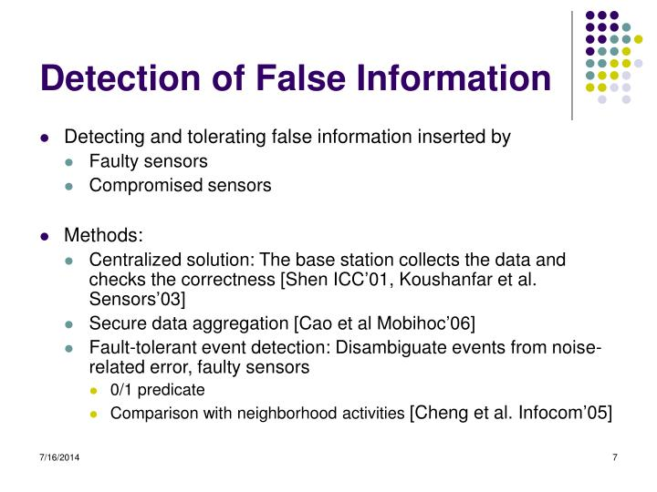 Detection of False Information