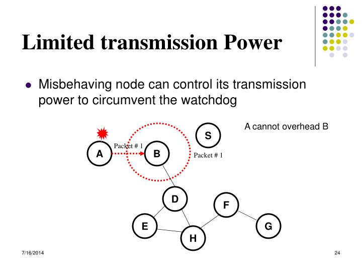 Limited transmission Power