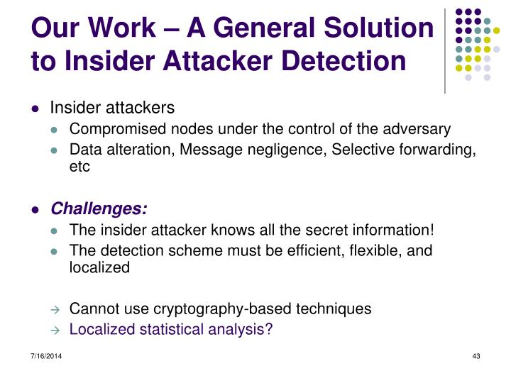 Our Work – A General Solution to Insider Attacker Detection