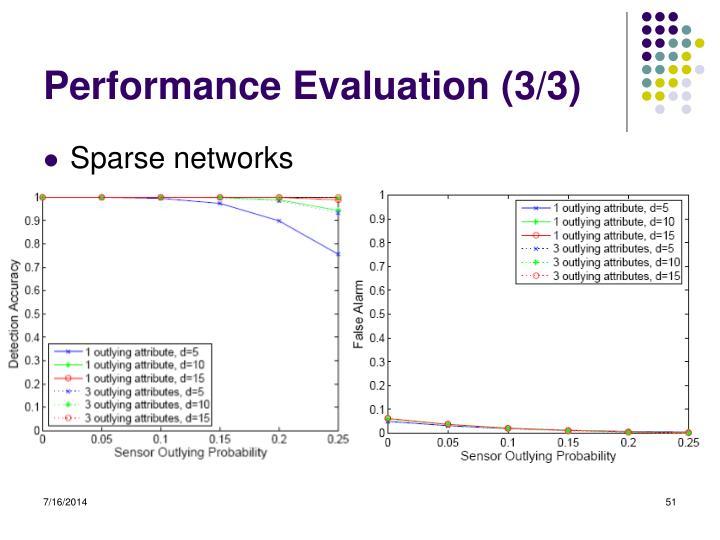 Performance Evaluation (3/3)