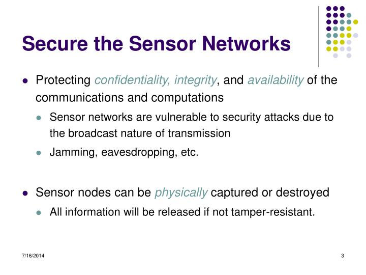 Secure the Sensor Networks