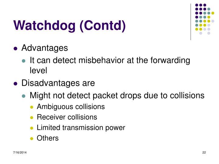Watchdog (Contd)
