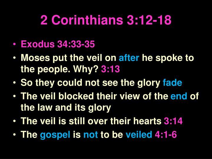 2 Corinthians 3:12-18