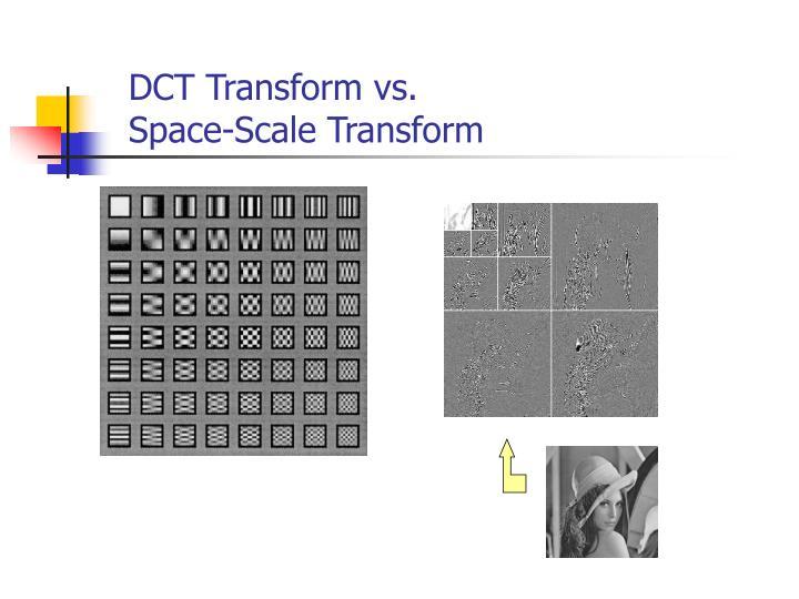 DCT Transform vs.
