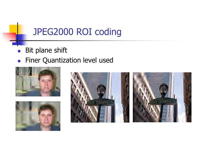 JPEG2000 ROI coding