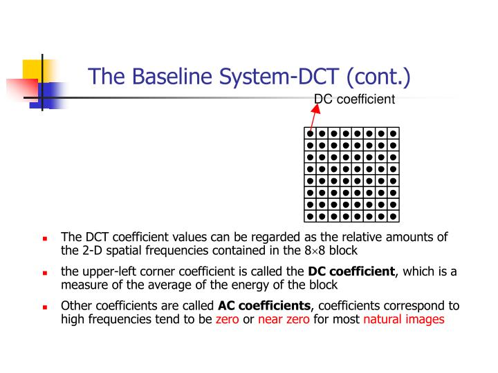 The Baseline System-DCT (cont.)