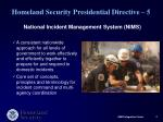 homeland security presidential directive 5