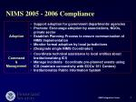 nims 2005 2006 compliance