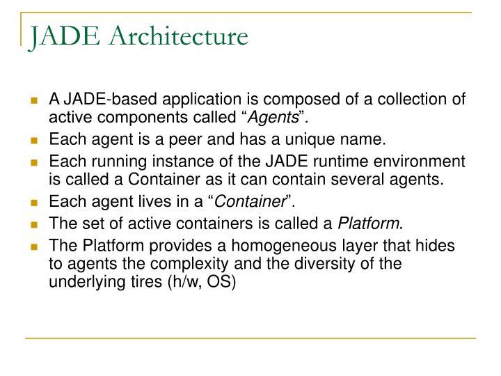 JADE Architecture