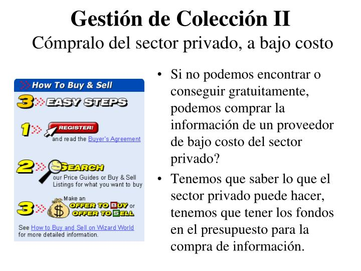 Gestión de Colección II