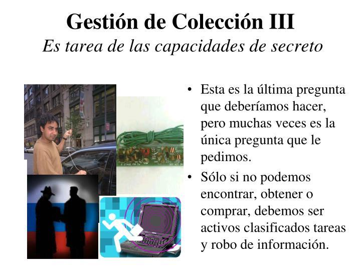 Gestión de Colección