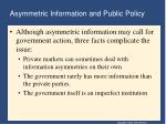asymmetric information and public policy1