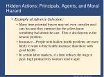 hidden actions principals agents and moral hazard3