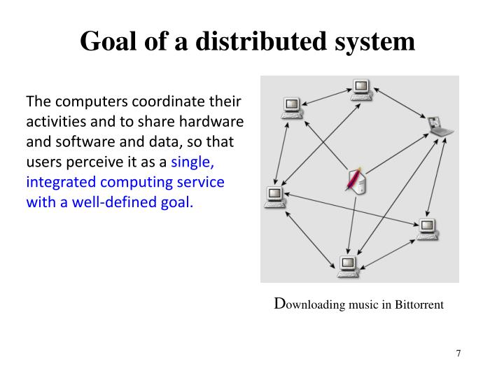 Goal of a distributed system