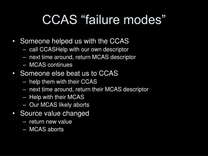"CCAS ""failure modes"""